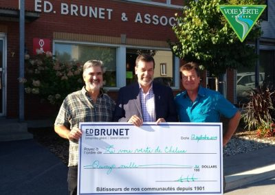 Ed Brunet - Big Cheque Sept 2109